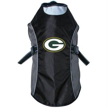 auguau Green Bay Packers Water Resistant Reflective Pet Jacket