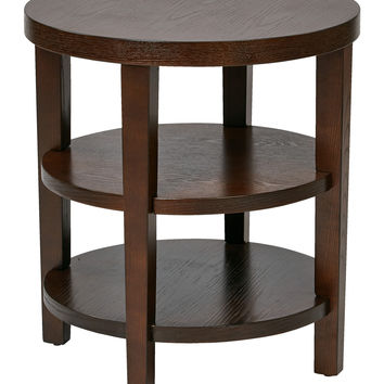 "Office Star Work Smart Merge 20"" Round End Table (Espresso) [MRG09]"