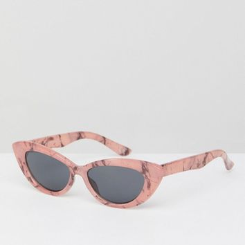 ASOS Small Pointy Cat Eye Sunglasses at asos.com