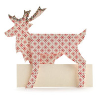 Reindeer Die Cut Place Cards