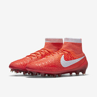 The Nike Magista Obra Women's Firm-Ground Soccer Cleat.