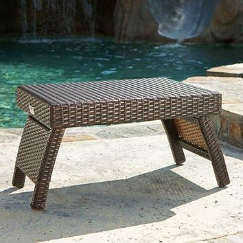 Sigma new style Rattan Lounger Side Table