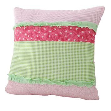 PEM America Anna's Ruffle Decorative Pillow (Pink)