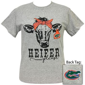 Florida Gators Preppy Heifer Please Cow T-Shirt