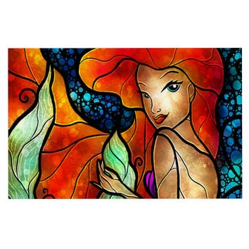 "Mandie Manzano ""Ariel"" Mermaid Decorative Door Mat"