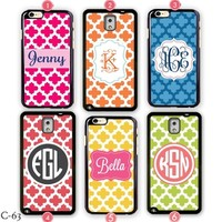 Customize Samsung galaxy Note 3 Case Monogram iPhone 5S Cover 5C S5 S4