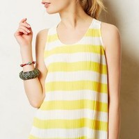 Citron Pleated Tank by Maeve Yellow