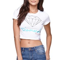 Diamond Supply Co Logo Crew T-Short - Womens Tee - White