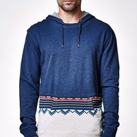 On The Byas Axl Sweater Pieced Hooded Shirt - Mens Shirt - Blue
