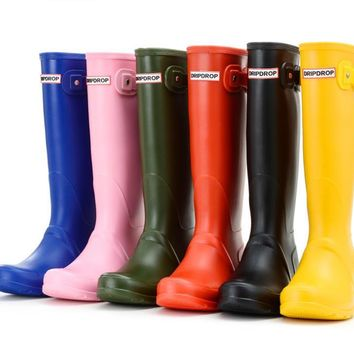 Brand womens waterproof rubber rain boots wellies  wellington boots 6 colours