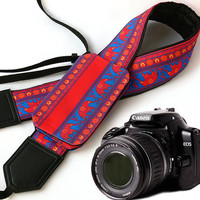 Camera Strap with pocket. Elephant Camera Strap. Camera accessories. Photographer gift.