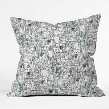 Sharon Turner Kitchen Town Throw Pillow