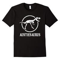 Auntiesaurus Funny Dinosaur Skeleton Tee Shirt For Aunt