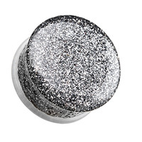 Glitter Shimmer Single Flared Ear Gauge Plug
