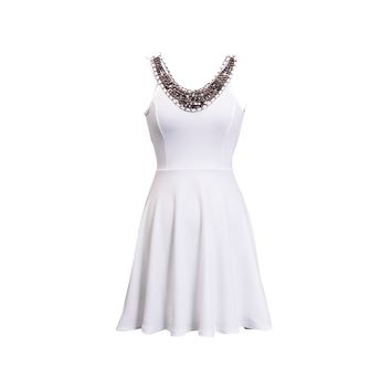 Crossback Studded Dress - Kely Clothing