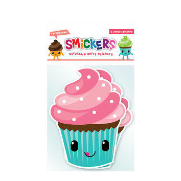 Jumbo Scratch and Sniff Cupcake Sticker