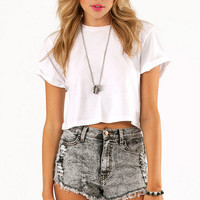Washed Away Denim Shorts $46