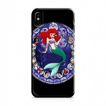 Ariel the Little Mermaid Stained Glass iPhone X Case