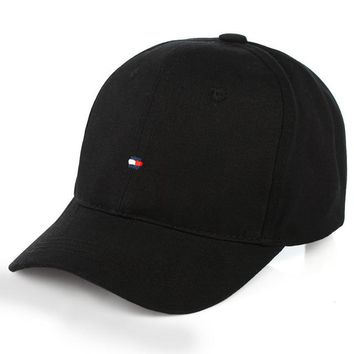 Sports Hat Cap trendy  men's solid color caps smash-proof simple hat female winter outdoor spring and autumn sports tommy hilftigger visor baseball KO_16_1