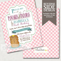 Pancakes and Pajamas Party Invitation / PJ Slumber Party Invite Printable