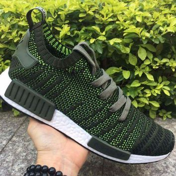 ESBON Best Online Adidas NMD R1 Stlt Spring Summer 2018 Line up Green/Black Running Sport Shoes Camouflage Sneakers  Casual Shoes