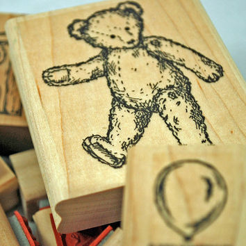 """Stampin Up Stamp Set """"Favorite Teddy Bear"""" RETIRED and UNUSED Hard to Find Rubber Stamp Set,for Scrapbooking. Cardmaking"""
