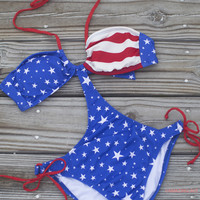 Stars And Stripes Forever Patriotic Monokini