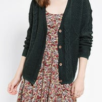 Urban Outfitters - Coincidence & Chance Mixed-Cable Slouchy Cardigan