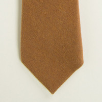 Solid Camel Brushed Cotton Tie