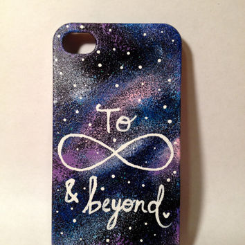 Hand Painted To Infinity and Beyond Galaxy iPhone 4/4s/5/5s Case