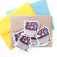 Envelope Seals - Flower Stickers