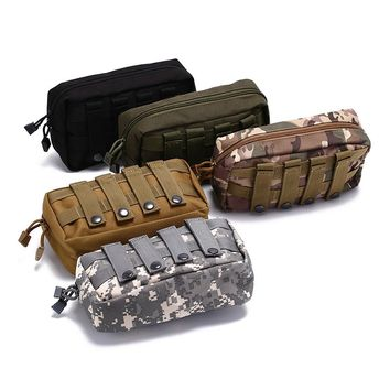 Magazine Waterproof Waist Pack Sport Bags Tactical Molle Belt Pouch Military Bag Carrier Cell Phone Holder For Backpack & Vest