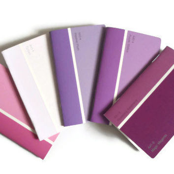 Mini Paint Chip Notebooks Shades of Purple Notebook Upcycled