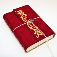 Cabernet  Large vegan suede journal - Book of Shadows