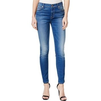 7 For All Mankind Womens Denim Super Skinny Ankle Jeans