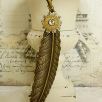 Bullet Necklace, Feather Necklace, Bullet Jewelry, Outlaw Glam