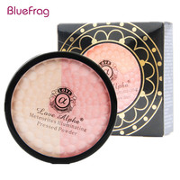 BLUEFRAG 5g Face Makeup Meteorites Honey Pressed Powder Powder 13 Colors  Professional Face Illuminating Powder Brand Love Alpha
