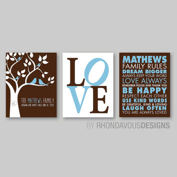 Family Rules Wall Art best family rules personalized products on wanelo