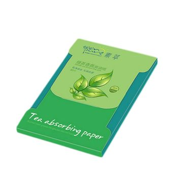 Tissue Papers Green Tea Smell Makeup Cleansing Oil Absorbing Face Paper Absorb Blotting Facial Cleanser Face Tools 80sheets/pack