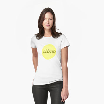 "'""citron"" abstract typography' T-Shirt by BillOwenArt"