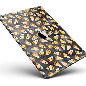 """Watercolor Candy Corn Pattern Full Body Skin for the iPad Pro (12.9"""" or 9.7"""" available)"""