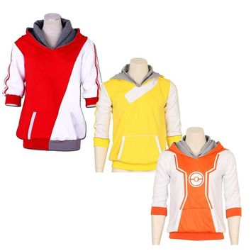 High Quality  Go Trainer Hoodies Anime Cosplay Costume Hoody Sweatershirt For Men Women JacketKawaii Pokemon go  AT_89_9