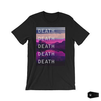pastel goth, goth clothing, soft grunge, cyberpunk clothing, abstract art, grunge shirt, glitch, glitch art, black t-shirt, abstract tshirt