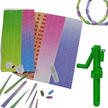 Evelots  Recycled Paper Beads Kit, Bead Making Kit
