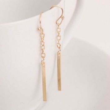 ESBONHS 2016 European style Fashion Earrings Long Straight Chain Ear Hook Earrings fine jewelryTrade Punk for women