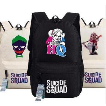 Batman Suicide Squad Harley Quinn Joker Backpack bags Student Book bag Oxford School bags AS Gift 45x32x13cm