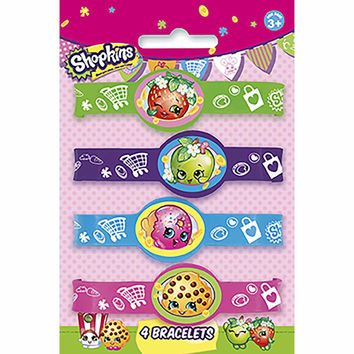 Shopkins Party Favor Stretch Bracelets [4 per Pack]