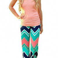 Wave Stripe Wide Trouser