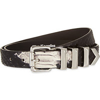 THE KOOPLES - Python leather belt | Selfridges.com
