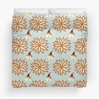 'Mandala and Bloom' Duvet Cover by Carmen Ray Anderson